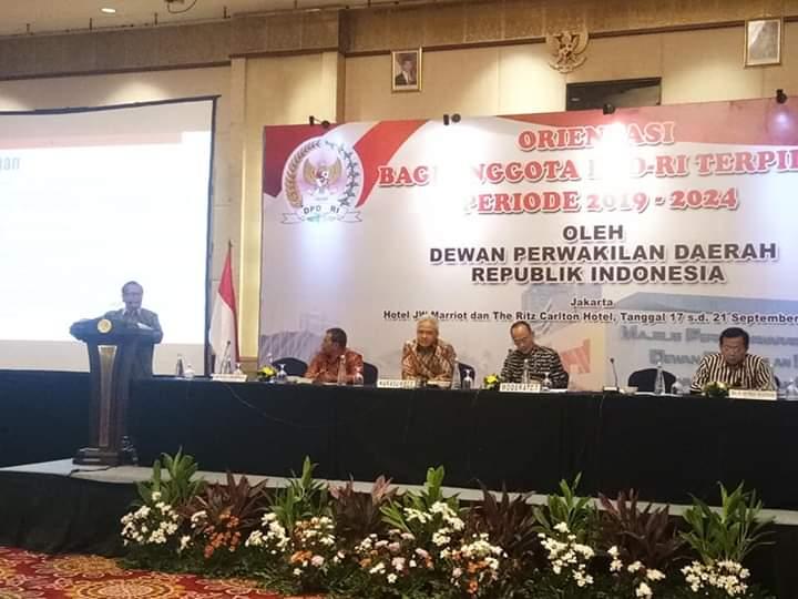 Sokhiatulo Laoli Narasumber Pada Orientasi Anggota DPD-RI Terpilih 2019-2024