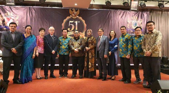 IMO Indonesia Dan Wagub Sumut Hadiri HUT KADIN ke 51