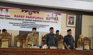 DPRD dan Pemkab Konawe Selatan Sepakati Perda APBD Perubahan 2019