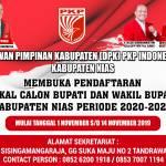 PKPI Kabupaten Nias Buka Pendaftaran Cakada, Berikut Informasinya