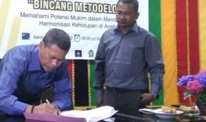 Bekerjasama Dengan Mukim, Badan Riset Keagamaan dan Kedamaian Aceh Gelar Bincang Metodologi