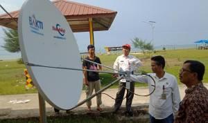 Wow, Pengunjung Pantai Tagaule Onolimbu Kini Dapat Mengakses Internet Gratis