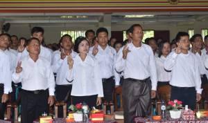 Ratusan Anggota BPD Masa Jabatan 2019 – 2025 Diambil Sumpah/Janji