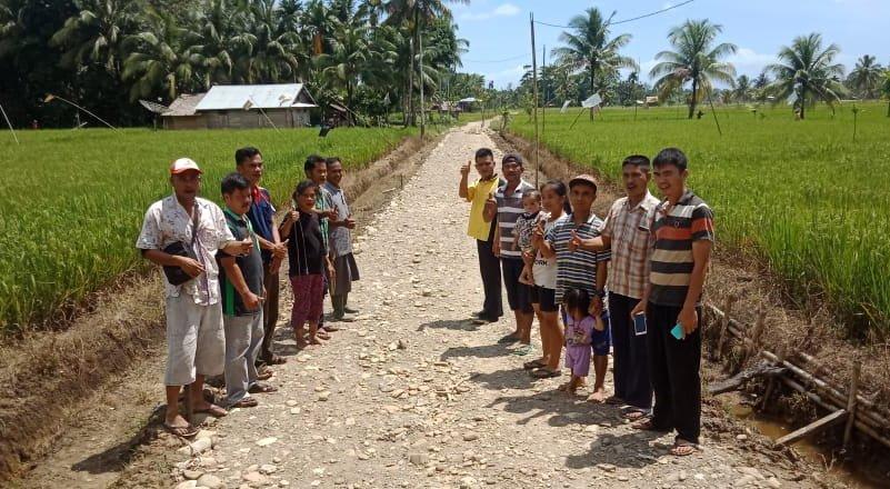 Dana Desa Hilihoru Bangun Infrastruktur Jalan