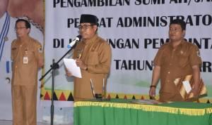 Lantik Pejabat Administrator dan Pengawasan, Berikut Arahan Wakil Bupati Nias