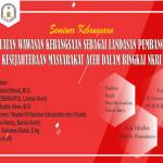 HMP SKI dan ADW Gelar Seminar Kebangsaan