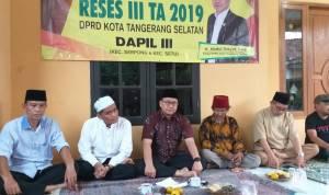 Reses Ketua DPRD Tangsel, Saling Berbagi